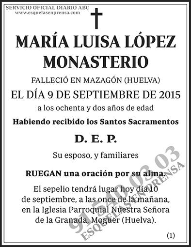 María Luisa López Monasterio